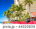ハワイ ワイキキ ワイキキビーチの写真 44020838