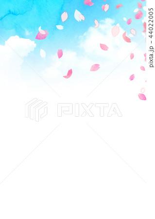 桜 背景素材 テクスチャー 44022005