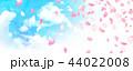 桜 コピースペース 花びらのイラスト 44022008