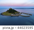 drone shot of St Michaels Mount Cornwall 44023595