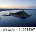 St Michaels Mount Cornwall with the sun rising 44023597