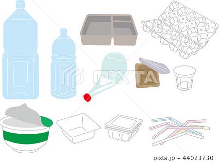 プラスチック ゴミのイラスト素材 44023730 Pixta