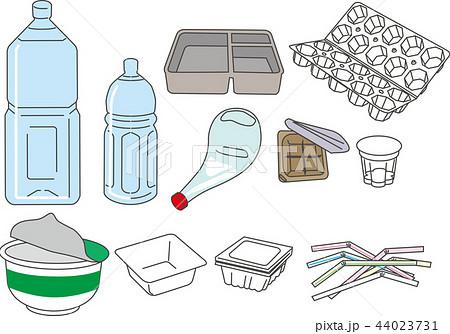 プラスチック ゴミのイラスト素材 44023731 Pixta