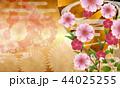 和柄 和 桜のイラスト 44025255