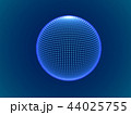 Cyber space concept: 3d digital sphere consisting of glowing particles. 44025755