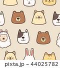 動物 アート ベビーのイラスト 44025782