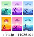 colorful covers with various sports rest day vector brochure cards set. Extreme on nature template 44026101