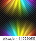 レインボー 虹 ライトのイラスト 44029055