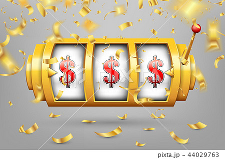 Creative vector illustration of 3d gambling reel, casino slot machine isolated on transparent 44029763