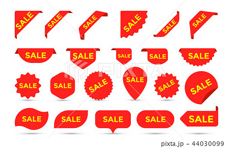 Stickers vector icons for shop sale tags, labels 44030099