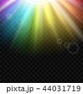 レインボー 虹 ライトのイラスト 44031719