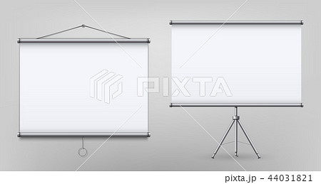 Creative vector illustration of empty meeting projector screen isolated on transparent background 44031821