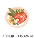 サケ サーモン 鮭のイラスト 44032018