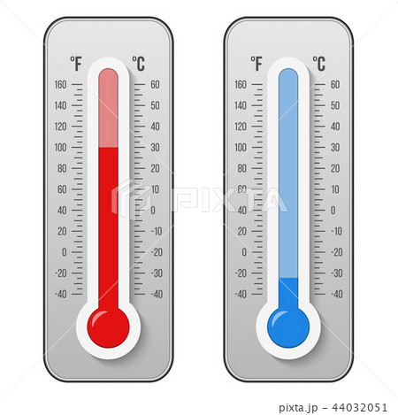 creative vector illustration of celsius fahrenheit meteorology