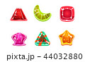 Glossy candies set, multicolored sweets of different shapes, user interface assets for mobile apps 44032880