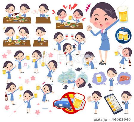 Cabin attendant blue women_alcohol 44033940