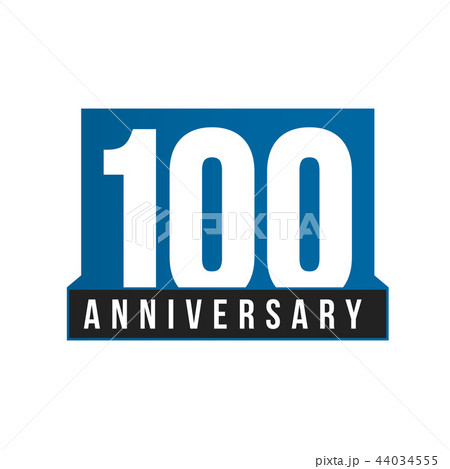 100th anniversary vector icon birthday logo template greeting card