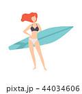 人々 人物 サーフボードのイラスト 44034606