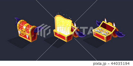 Chest Set for Game Resource. Vector set 44035194