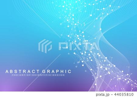 Scientific vector illustration genetic engineering and gene manipulation concept. DNA helix, DNA 44035810
