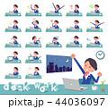 女性 ビジネス デスクワークのイラスト 44036097