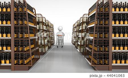 商品棚と顧客 通路 44041063