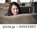 女性 高校生 読書の写真 44043865