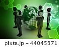 people around  globe representing socialnetworking 44045371