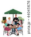 カフェで注文する 女性 イラスト A3サイズ 44045676