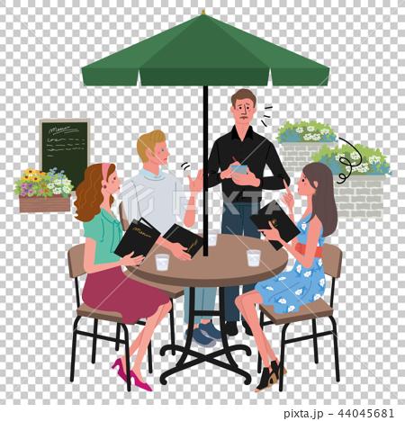 咖啡館訂單男人和女人圖麻煩 44045681
