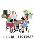 カフェ 人物 会話のイラスト 44045687