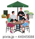 カフェで注文する 女性 イラスト 44045688