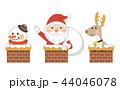 クリスマス サンタ サンタクロースのイラスト 44046078