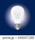電球のイラスト|紺背景|Light bulb illustration 44047186