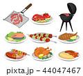 バーベキュー 食 料理のイラスト 44047467
