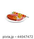 バーベキュー 食 料理のイラスト 44047472