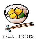 筆描き 野菜 食物 煮物 かぼちゃ 44049524