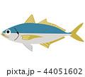 魚 海水魚 アジのイラスト 44051602