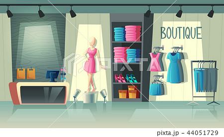 Vector clothing shop interior, fashion boutique inside 44051729