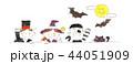 ハロウィン 子ども 仮装のイラスト 44051909