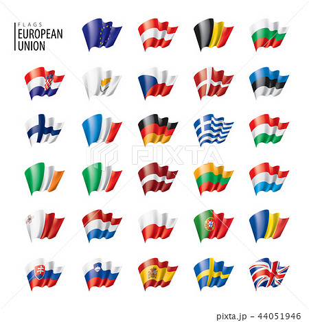 flags of the european union. Vector illustration. 44051946
