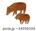 いのしし 亥 ベクターのイラスト 44056209