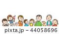 家族 人物 三世代家族のイラスト 44058696
