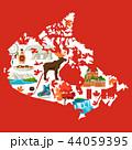 Illustration of Canada map. 44059395