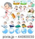 女性 シニア 旅行のイラスト 44060030