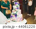 ケーキ ウエディング 花の写真 44061220