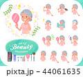 女性 シニア 美容のイラスト 44061635