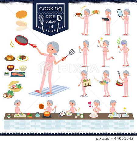 flat type patient senior woman_cooking 44061642