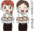 カフェ店員 女性 ベクターのイラスト 44062157