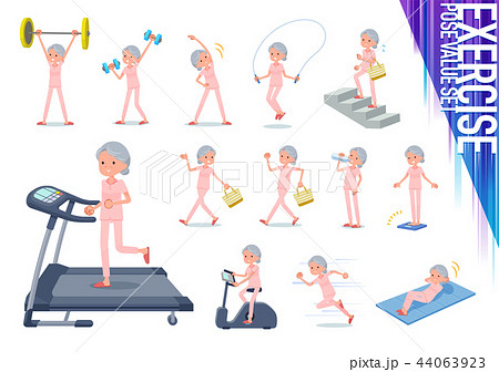 flat type patient senior woman_exercise 44063923